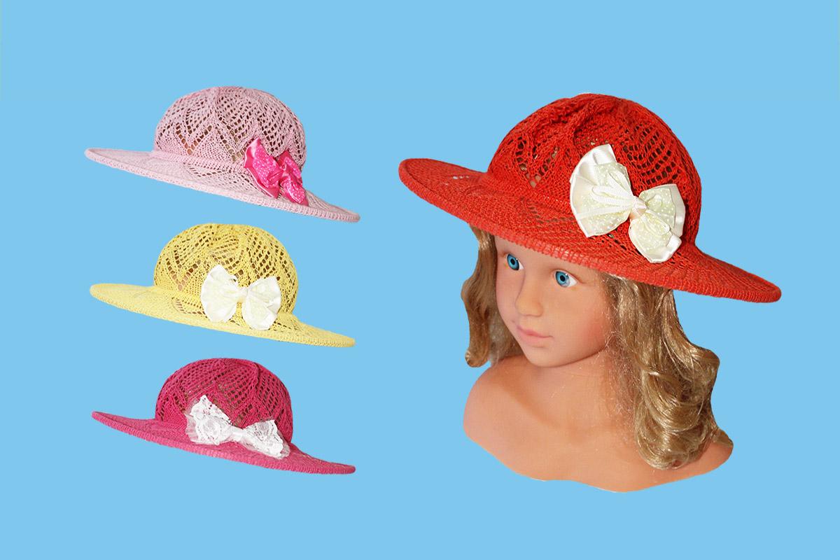 Ажурная шляпа для девочки ассортимент (52154, ассорт.)