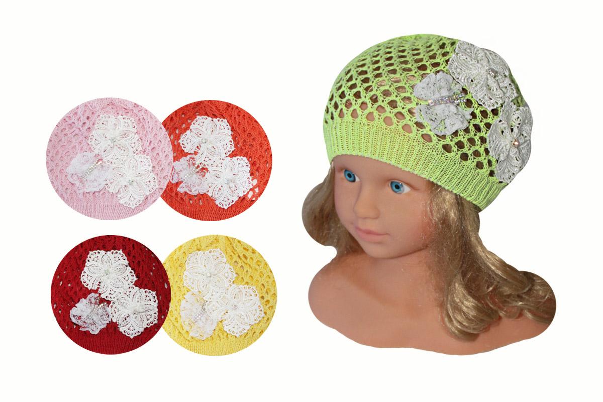 Ажурная шапка для девочки (44/46, ассорт.)