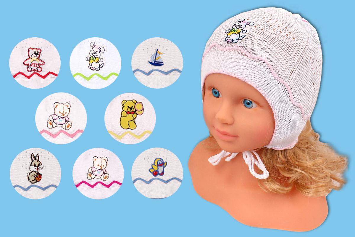 Белая детская ажурная шапка (40/42, белый)
