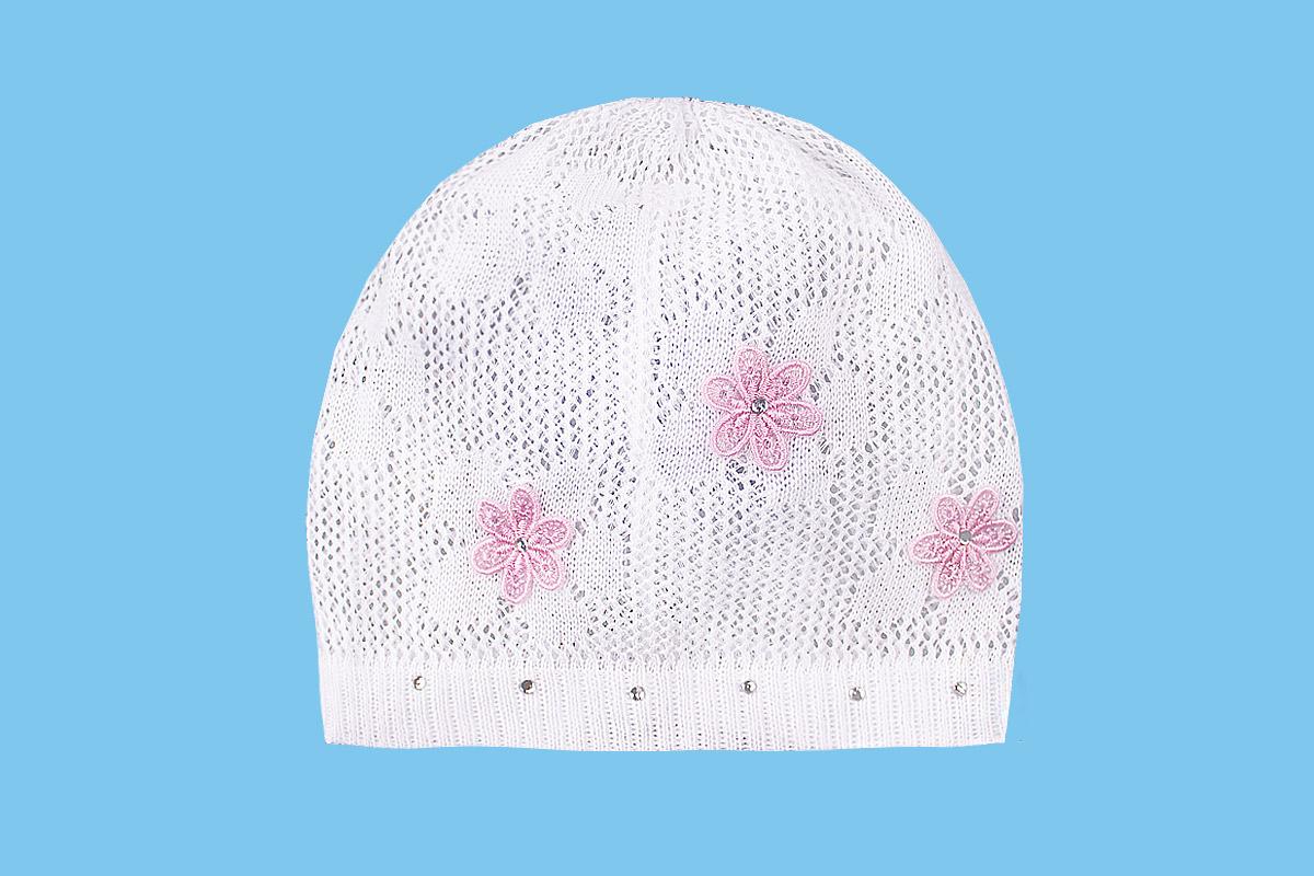 Ажурная шапка белая , размер 38/40 (38/40, белый)