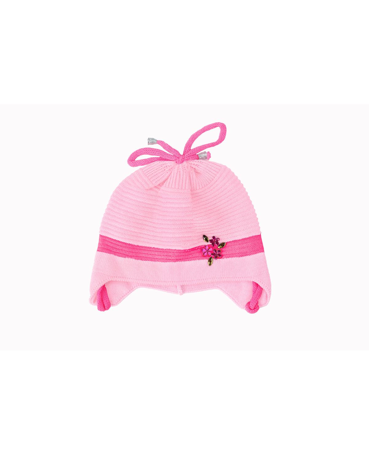 Розовая шапка для девочки (40/42, бл . розовый)