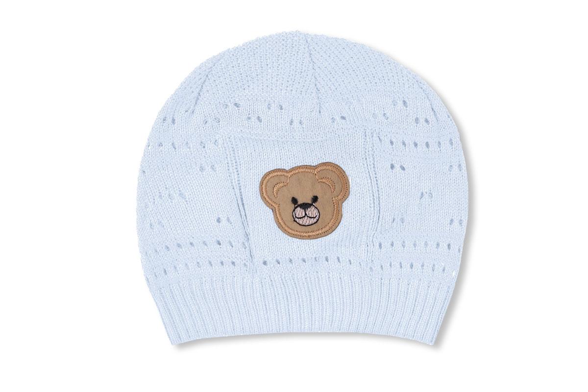 Ажурная шапка для мальчика белая (40/42, белый)