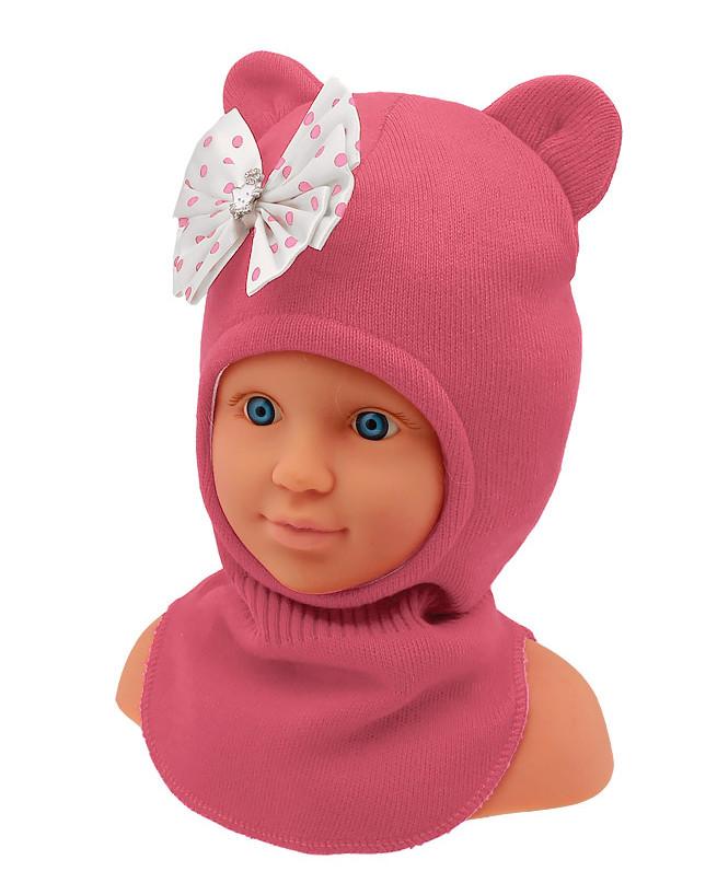 Шапка-шлем для девочки (48/50, розовый )