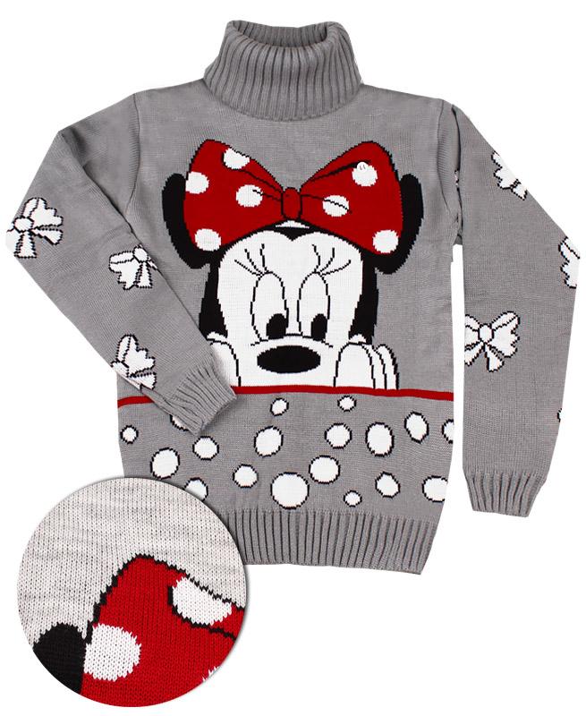 Вязаный свитер для девочки (40/158, св . серый)