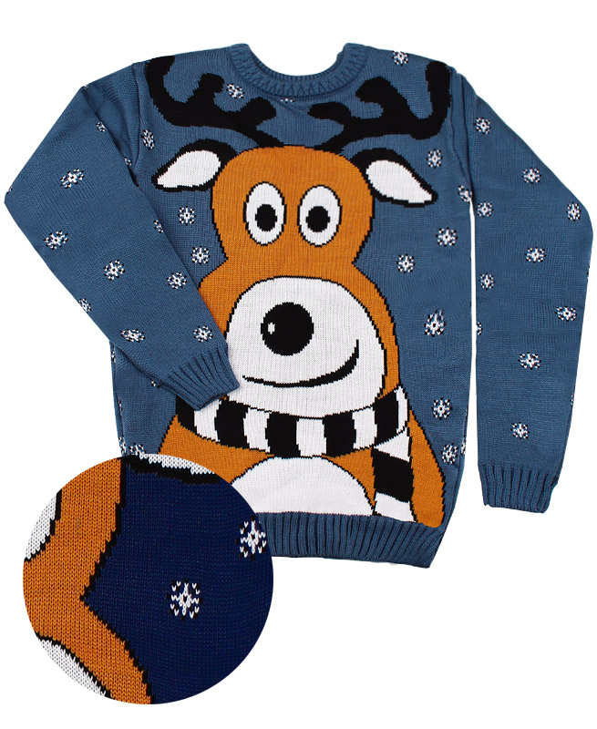 Детский свитер, синий (40/158, синий)