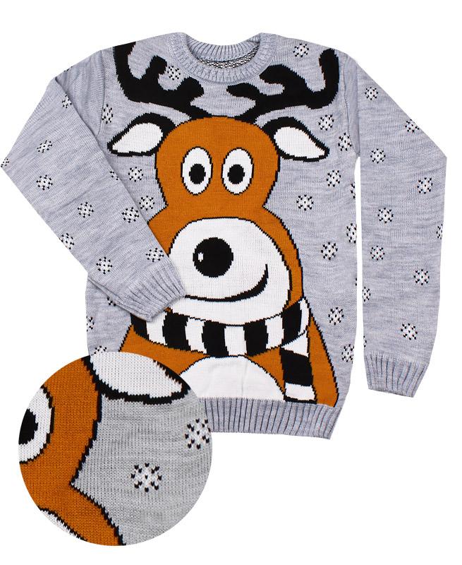 Детский свитер, серый (40/158, св .серый)