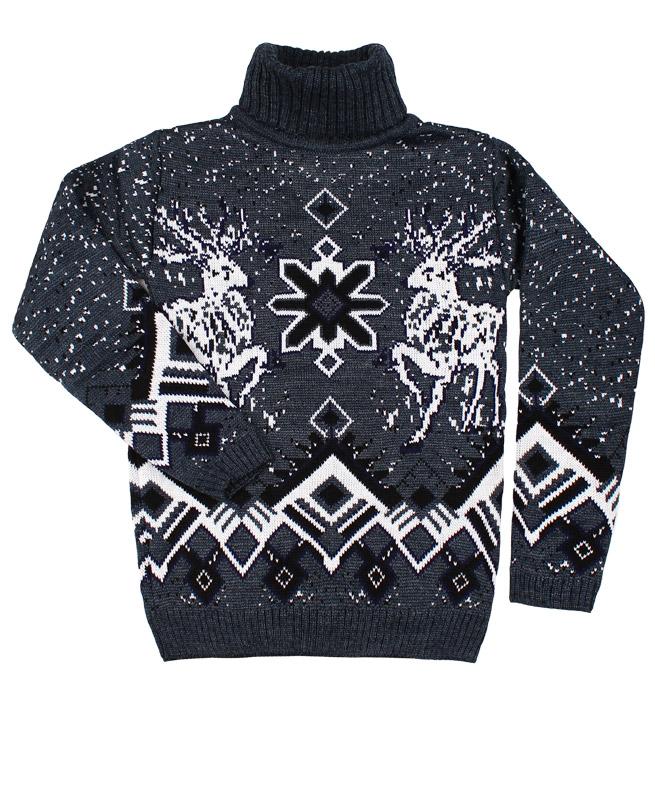Детский свитер,серый (36/146, темно серый)
