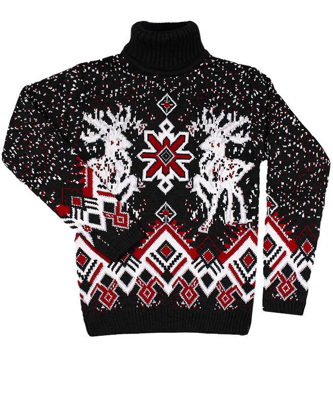 Детский свитер, черный (36/146, черный)