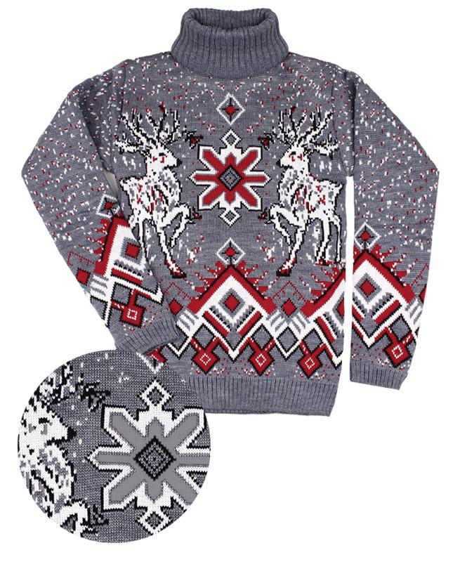 Детский свитер,серый (38/152, серый)