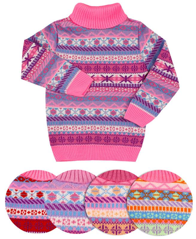 Вязаный свитер для девочки (30/116, ассорт.)