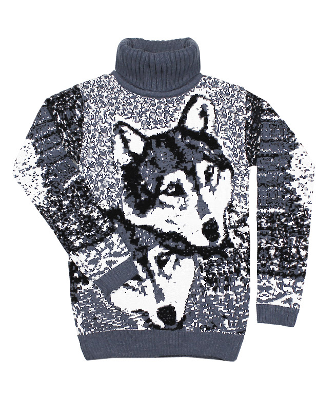 Серый вязаный свитер (38/152, серый)