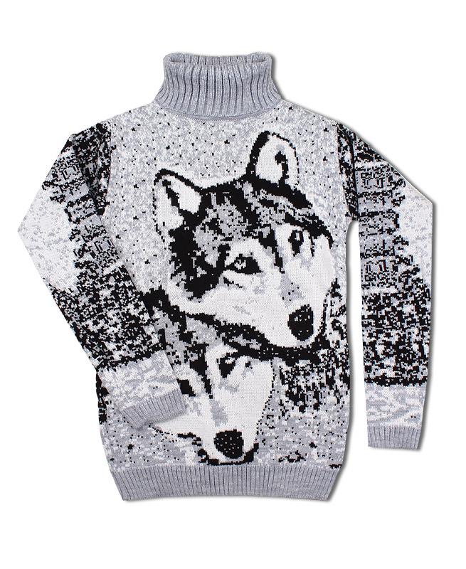 Вязаный свитер , серый (38/152, св . серый)