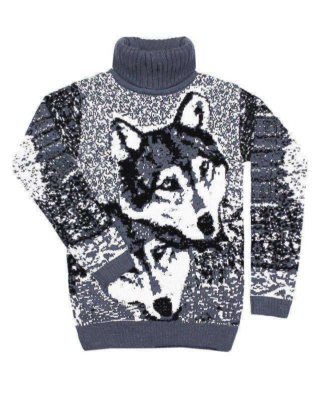 Серый вязаный свитер (40/158, серый)