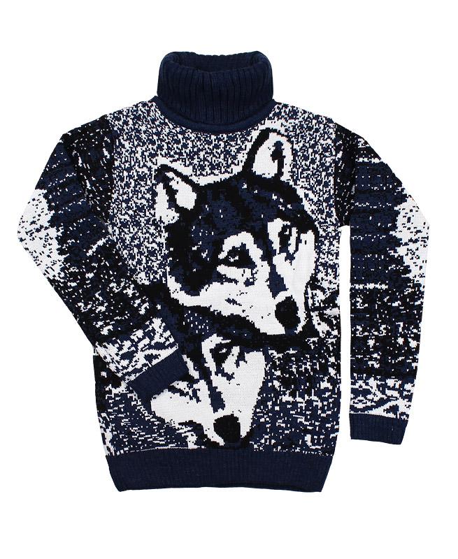 Вязаный свитер, синий (40/158, синий)