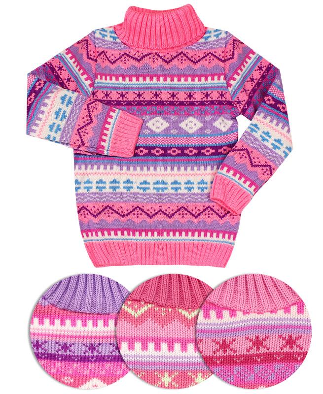 Вязанный свитер для девочки (30/116, ассорт.)
