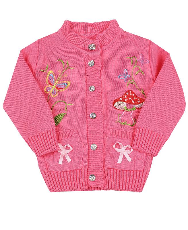 Джемпер для девочки , розовый (28/104, темно-розовый)