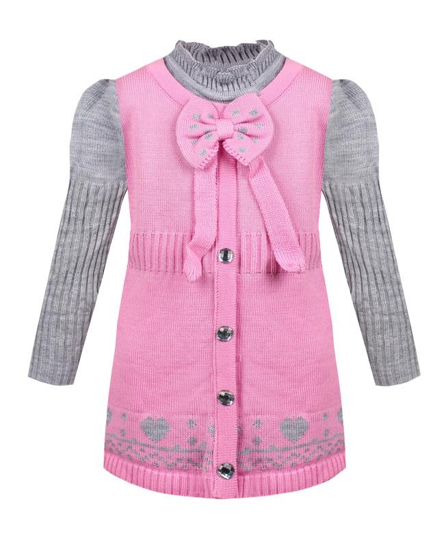 Туника для девочки , розовая (32/128, розовый)