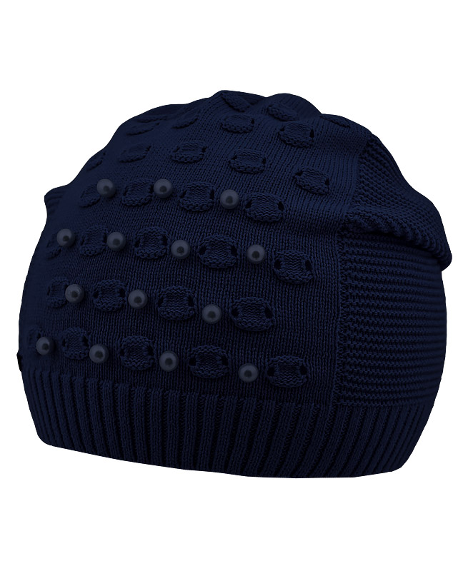 Синяя шапка для девочки (52/56, синий)