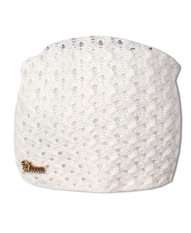 Белая шапка для девочки (54/56, белый)