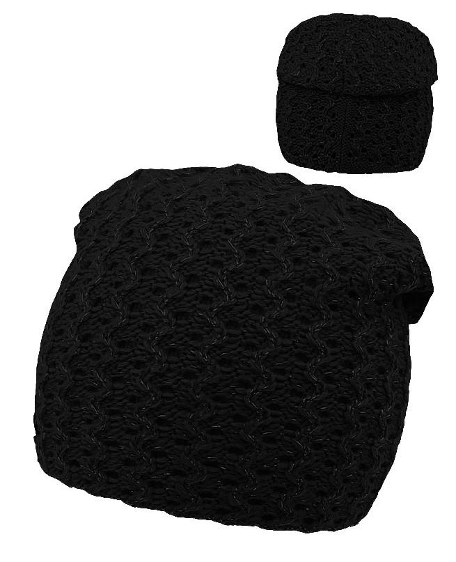 Черная шапка для девочки (54/56, черный)