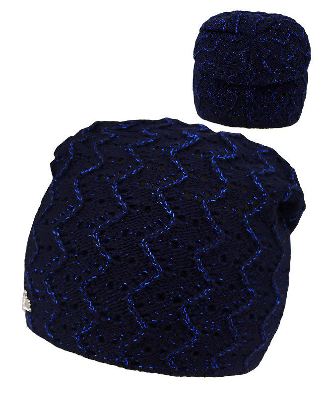 Синяя шапка для девочки (54/56, синий)