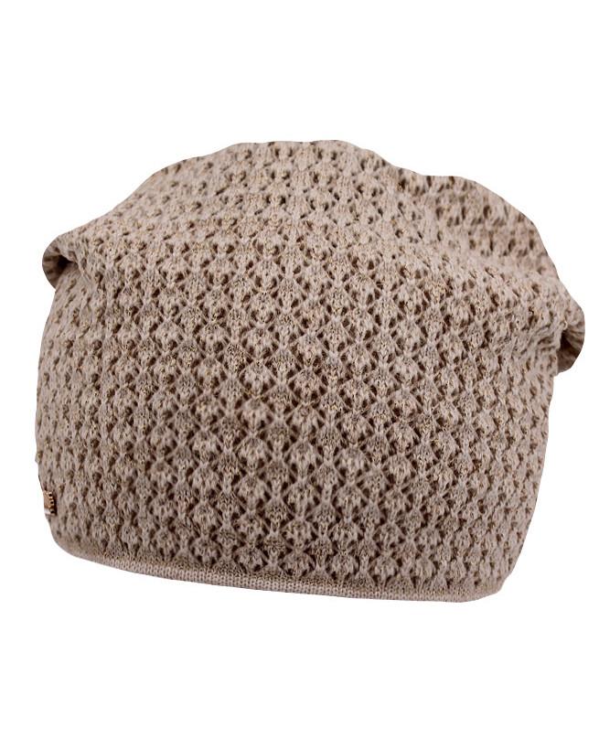 Коричневая шапка для девочки (54/56, коричневый)