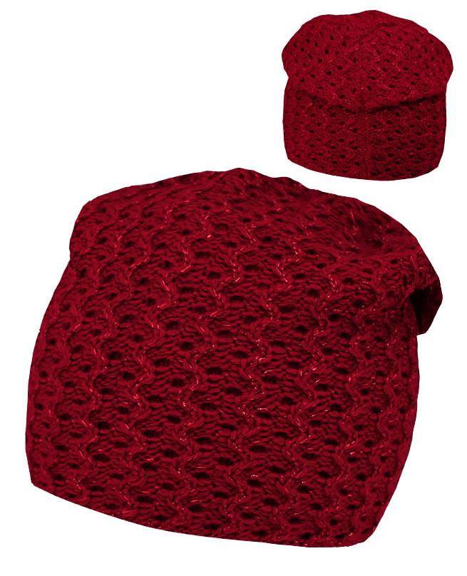 Красная шапка для девочки (54/56, красный)