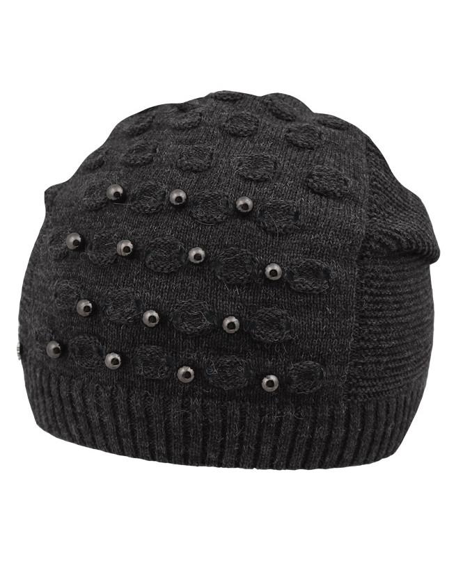 Серая шапка для девочки (52-56, темно серый)