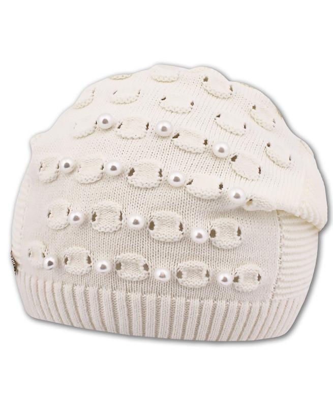 Белая шапка для девочки (52-56, белый)