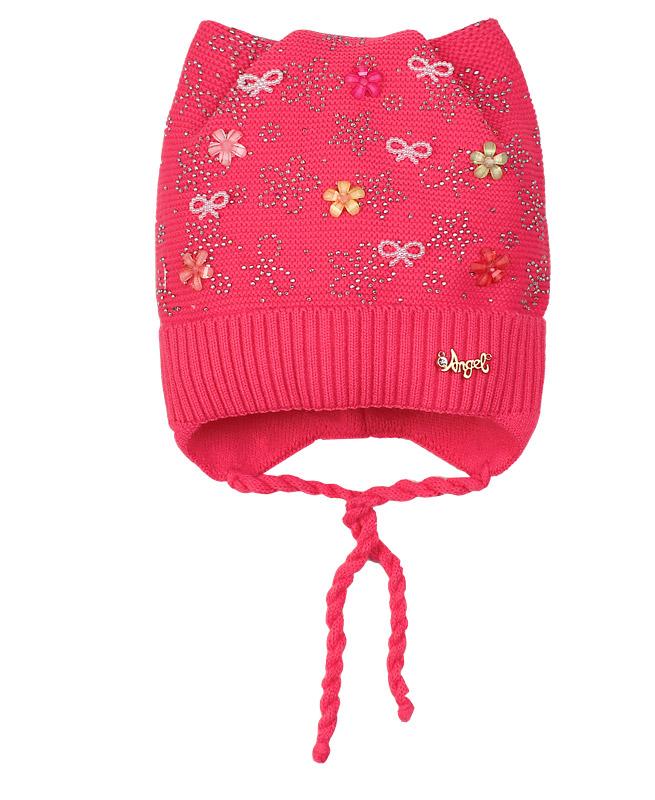 Малиновая шапка для девочки (42/44, малиновый)