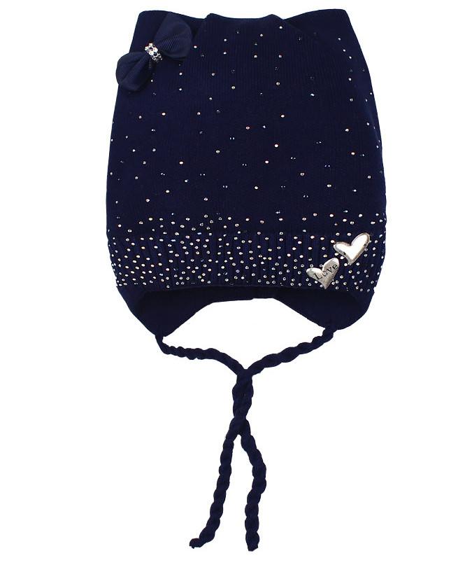 Синяя шапка для девочки (42/44, синий)
