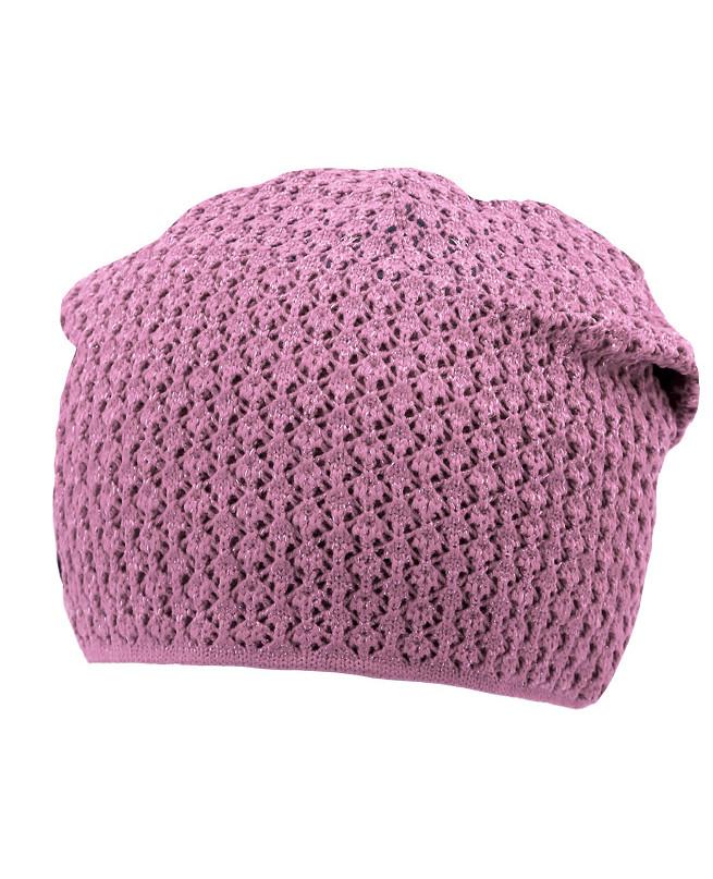 Сиреневая шапка для девочки (54/56, сиреневый)