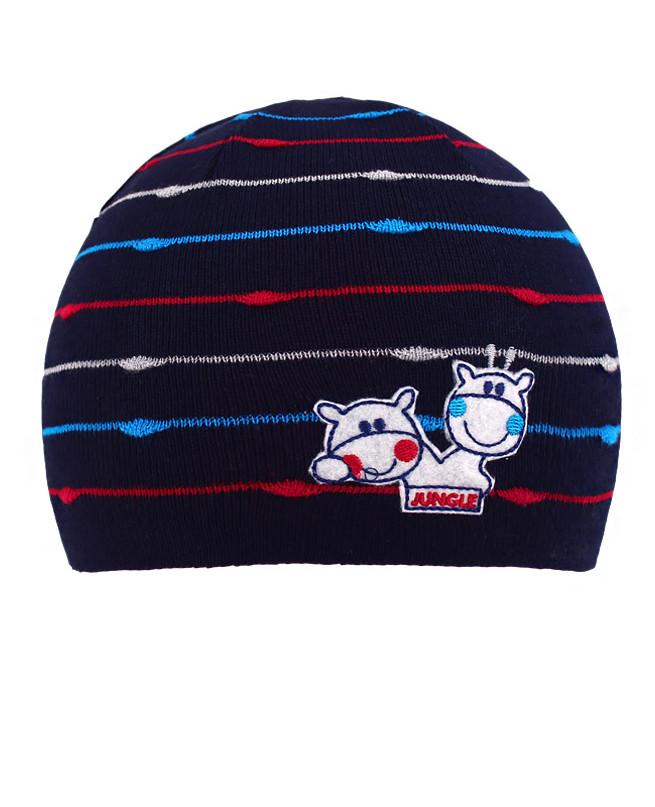 Синяя шапка для мальчика (48/50, т.синий)