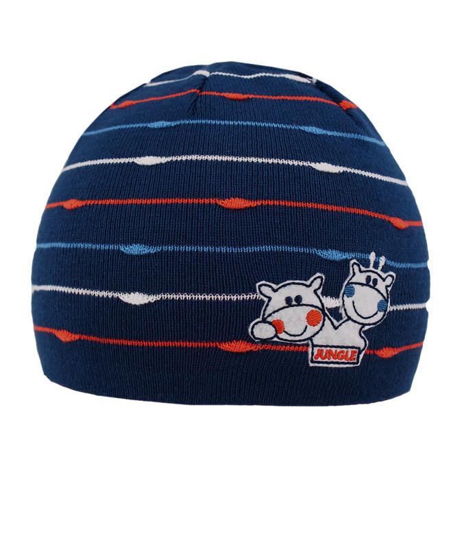 Синяя шапка для мальчика (48/50, синий)