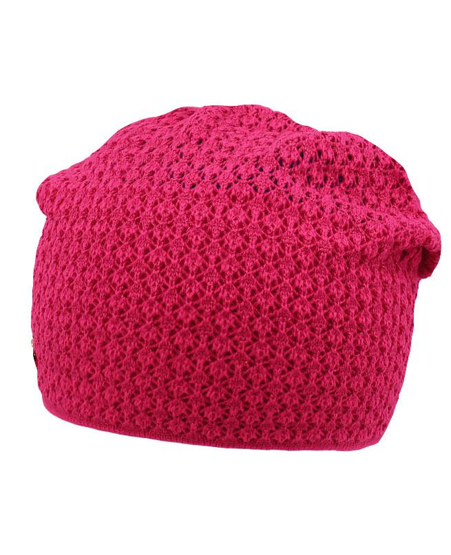 Малиновая шапка для девочки (54/56, малиновый)
