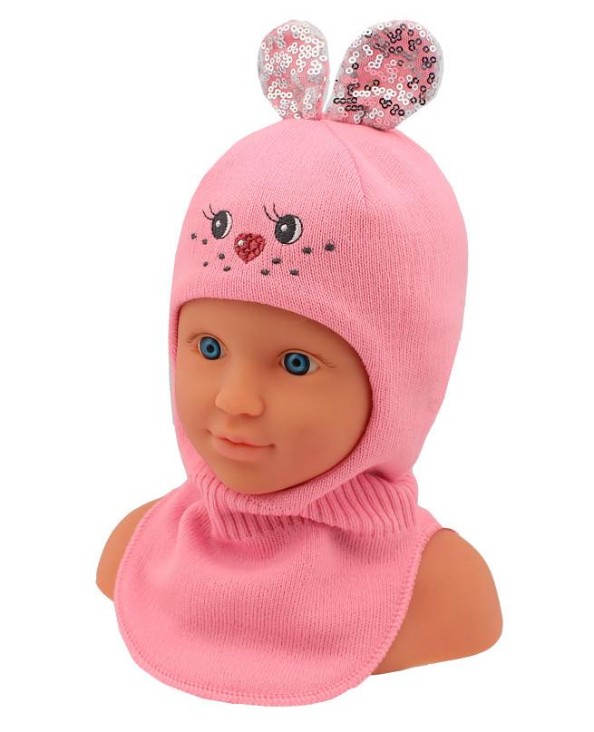 Шлем-шапка для девочки (42/44, розовый)