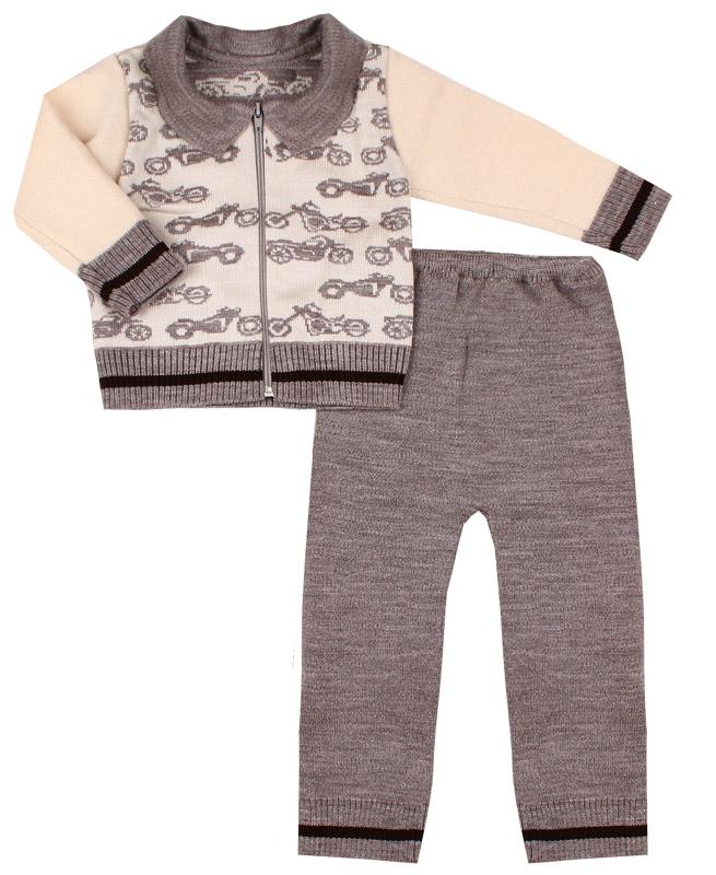Вязаный костюм для малышей (26/92, бежевый)