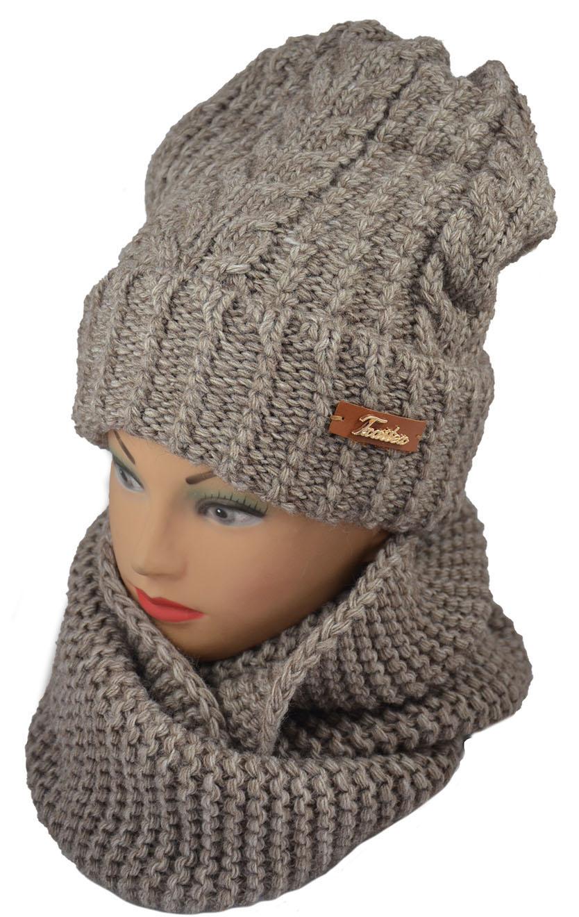 Комплект женский (шапка + снуд)