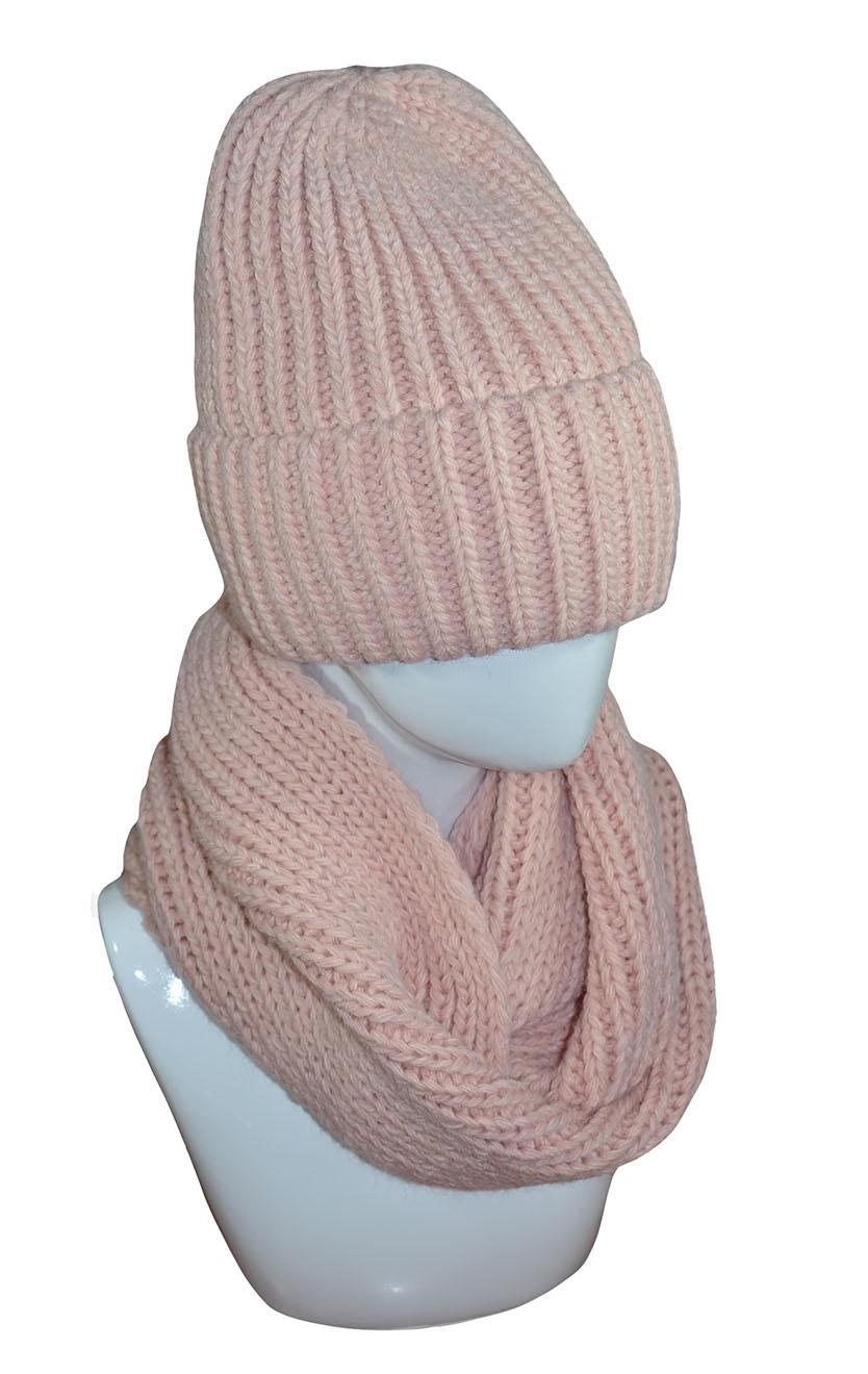 Комплект (шапка, снуд) женский